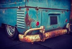 Vecchio furgone blu Fotografia Stock Libera da Diritti