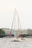 Vecchio galleggiamento della nave Fotografie Stock