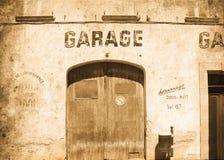 Vecchio garage Fotografia Stock Libera da Diritti