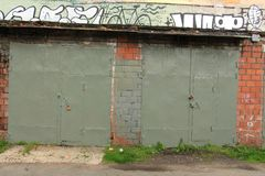 Vecchio garage Fotografia Stock