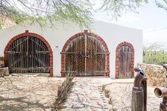 Vecchio garage del gesso Fotografie Stock
