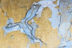Vecchio gesso con pittura incrinata immagine stock