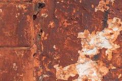 Vecchio gesso scheggiato sui precedenti di struttura del muro di cemento Immagine Stock Libera da Diritti