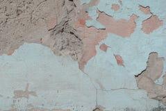 Vecchio gesso scheggiato sul muro di cemento, struttura del fondo Fotografia Stock Libera da Diritti