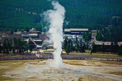Vecchio geyser fedele fotografia stock