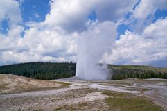 Vecchio geyser fedele del Yellowstone Fotografia Stock