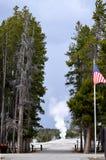 Vecchio geyser fedele, sosta nazionale del Yellowstone Immagini Stock Libere da Diritti
