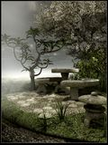 Vecchio giardino triste Fotografia Stock Libera da Diritti