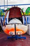 Vecchio giocattolo dell'elicottero della moneta Fotografie Stock Libere da Diritti