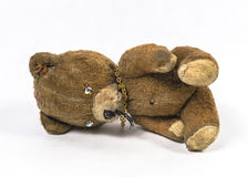 Vecchio giocattolo dell'orsacchiotto fotografia stock libera da diritti
