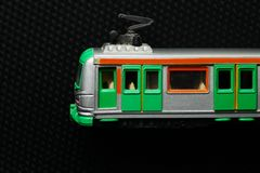 Vecchio giocattolo sporco del treno Fotografie Stock