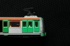 Vecchio giocattolo sporco del treno Immagini Stock Libere da Diritti