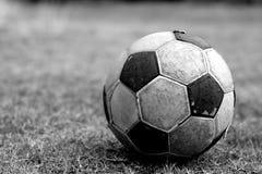 Vecchio gioco del calcio Fotografie Stock Libere da Diritti