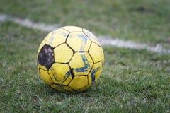 Vecchio gioco del calcio Immagine Stock Libera da Diritti