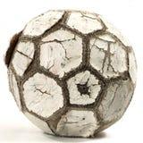 Vecchio gioco del calcio di cuoio fotografia stock libera da diritti