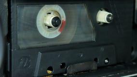 Vecchio gioco della bobina dell'audio cassetta archivi video
