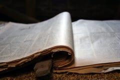 Vecchio giornale Immagine Stock