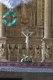 VECCHIO GOA, INDIA - 6 gennaio 2012: Interno della st Catherine Cathedral - altare St Catherine Cathedral (1640) Fotografia Stock Libera da Diritti