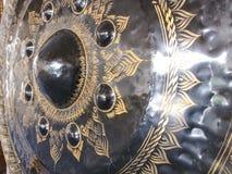 Vecchio gong di lanna immagine stock