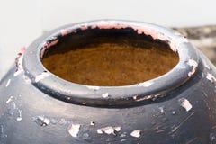 Vecchio graffio della superficie del vaso Fotografia Stock Libera da Diritti