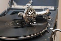 Vecchio grammofono Fotografia Stock Libera da Diritti