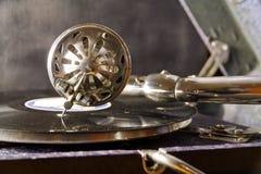Vecchio grammofono. Fotografie Stock