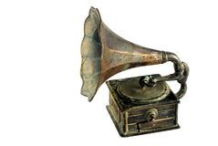 Vecchio grammofono Immagini Stock Libere da Diritti