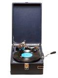 Vecchio grammofono del giradischi Immagini Stock Libere da Diritti