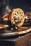 Vecchio grammofono del giradischi Immagine Stock