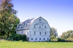 Vecchio granaio bianco nel Michigan Immagini Stock Libere da Diritti