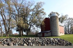 Vecchio granaio in colline Michigan di Farmington Fotografia Stock