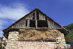 Vecchio granaio del mattone Fotografia Stock