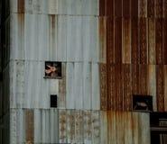 Vecchio granaio del metallo Fotografie Stock
