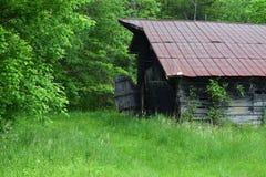 Vecchio granaio della montagna occidentale di NC fotografia stock libera da diritti