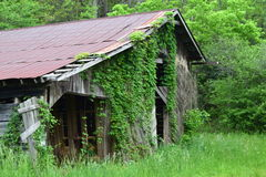 Vecchio granaio della montagna occidentale di NC fotografie stock libere da diritti