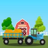 Vecchio granaio e campo verde Immagini Stock Libere da Diritti