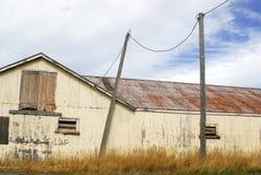 Vecchio granaio in Nuova Zelanda fotografie stock