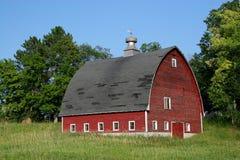 Vecchio granaio rosso Fotografia Stock