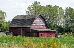 Vecchio granaio rosso nel Michigan U.S.A. Fotografie Stock Libere da Diritti