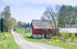 Vecchio granaio rosso rustico nel Michigan U.S.A. Immagine Stock
