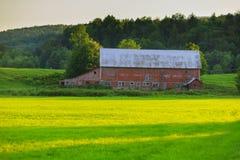 Vecchio granaio stagionato nel VT di Stowe, U.S.A. Fotografia Stock Libera da Diritti