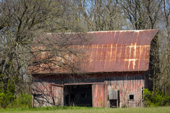 Vecchio granaio vicino a Dundas, Illinois Immagini Stock