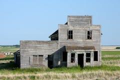 Vecchio grande magazzino abbandonato Fotografia Stock