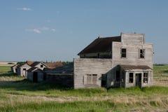 Vecchio grande magazzino abbandonato Fotografie Stock Libere da Diritti