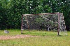 Vecchio grande scopo di calcio con la griglia fotografie stock libere da diritti