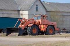 Vecchio grande trattore Immagine Stock