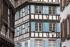 Vecchio a graticcio alloggiato di Strasburgo Fotografia Stock