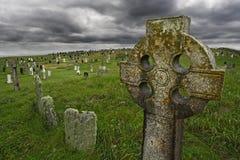 Vecchio gravesite celtico Immagini Stock