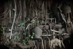 Vecchio gruppo di lavoro dei fabbri Fotografia Stock