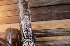 Vecchio ha ispezionato i bordi di legno fondo con spazio per tex Immagine Stock Libera da Diritti